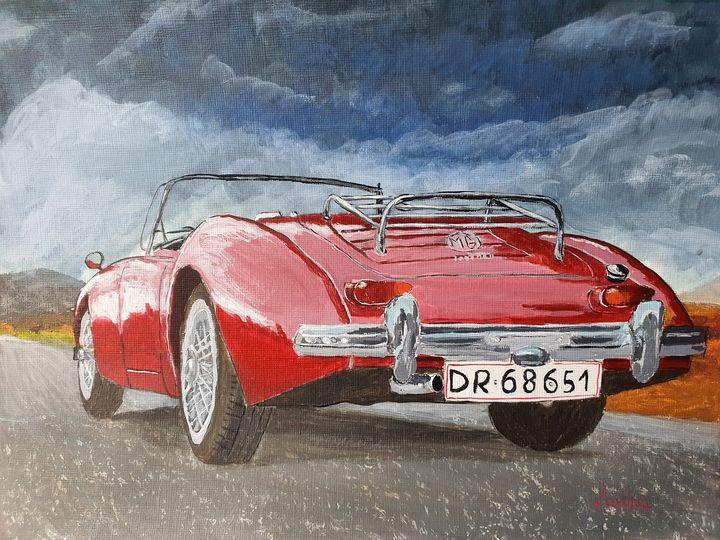 Red Car - Lavinia Art Studio