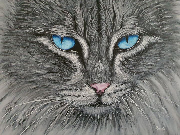 blue-eyed cat - Lavinia Art Studio