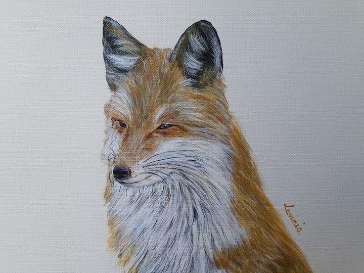 Little fox portrait - Lavinia Art Studio