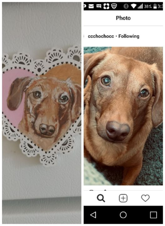 Custom Valentines Magnet - Painted Paws by Cheryl