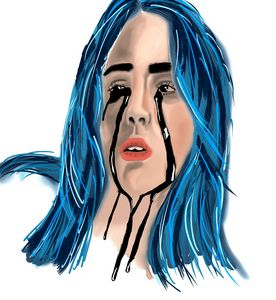 Billie elish digital artwork