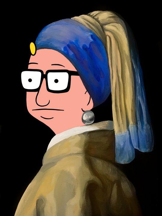 Tina With a Pearl Earring - Kathryn Hyatt