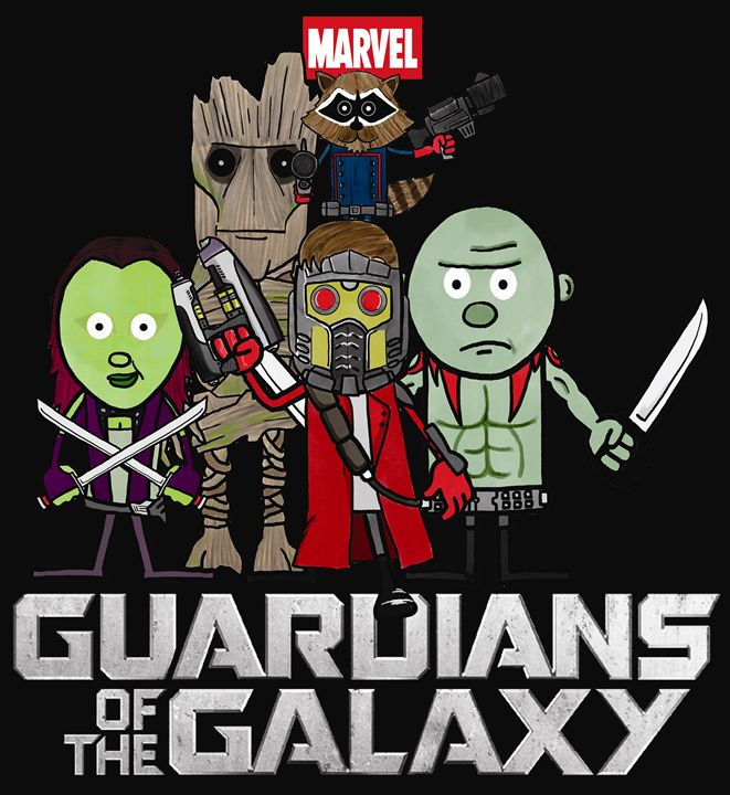 Guardians of the Galaxy - Doodles Handlon