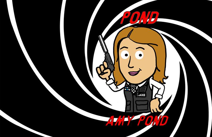 Amy Pond - Doodles Handlon