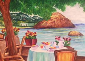 Mallorca. Original oil painting.