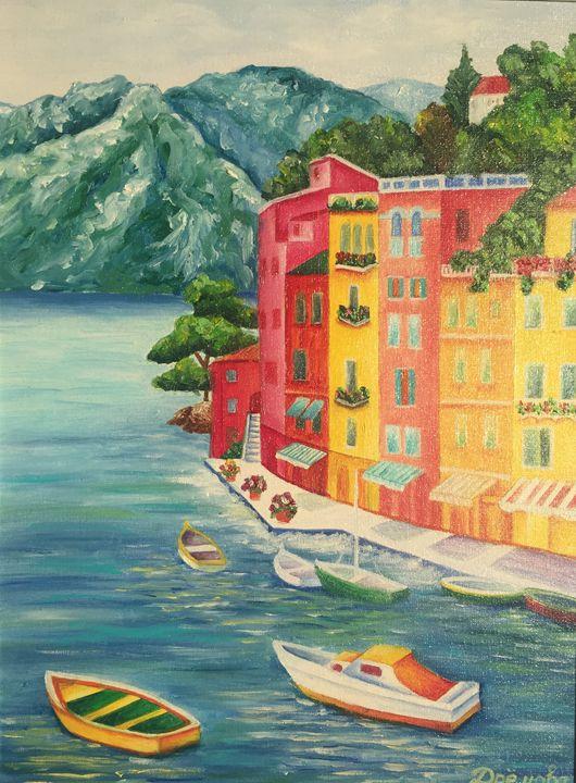 Summer in Genova,Italy. Oil painting - Dremova Elena