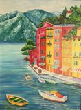 Summer in Italy. Oil painting.
