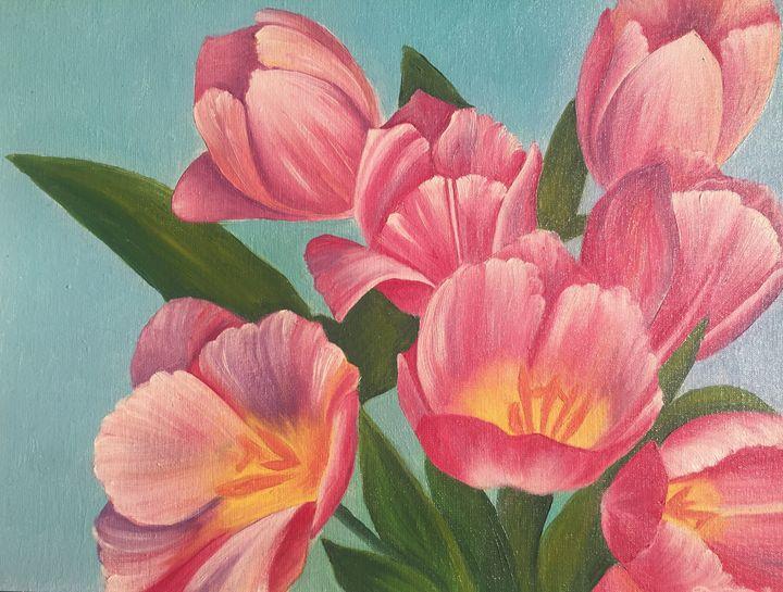 Tulips. Original oil painting - Dremova Elena