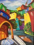 Original painting.Venice.