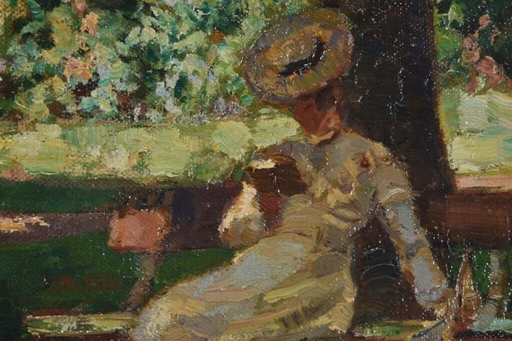 impressionism painting, attr. - Colleen Gallery