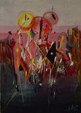 20x28 abstract symphony canvas