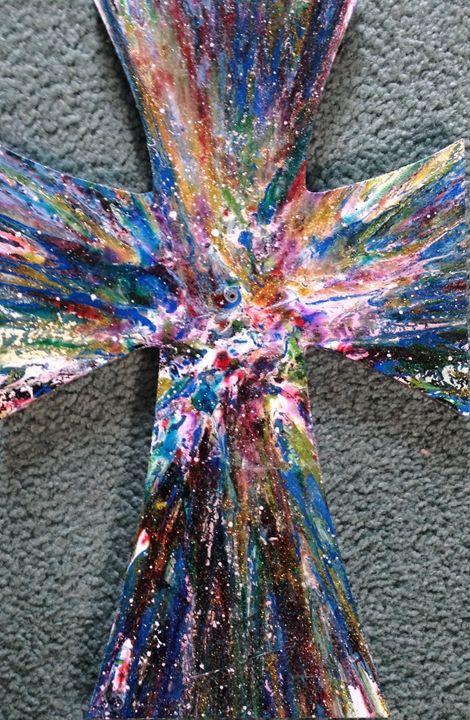 Cross - Michigan spin art