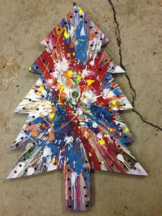 Tree spin art - Michigan spin art