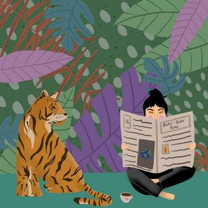 Tiger and the girl
