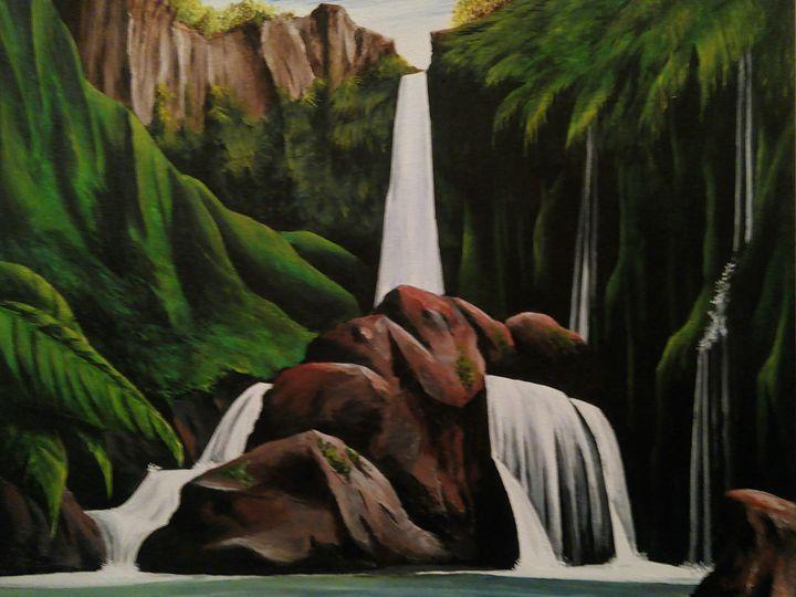 Coban Talun Malang Colin Welter Paintings Prints Landscapes Nature Waterfalls Artpal