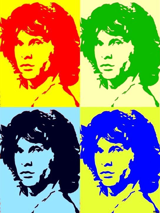 Four Images Of Jim Morrison - robertmargetts