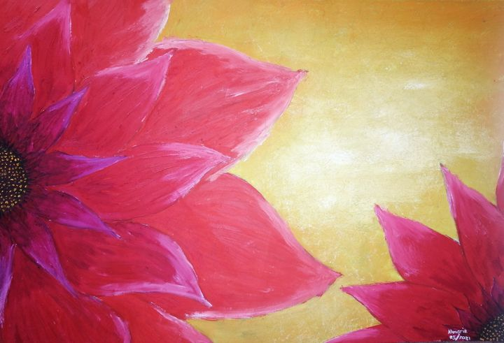 Flowers in a sunset - Almarie Creations