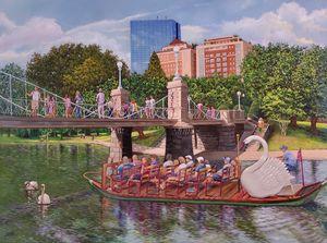 Boston Public Garden Foot Bridge