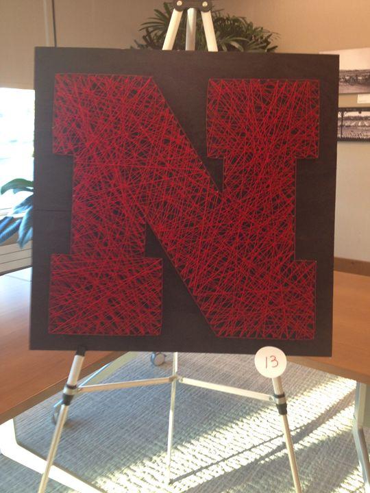 Nebraska Husker String Art - Disorder and Disarray