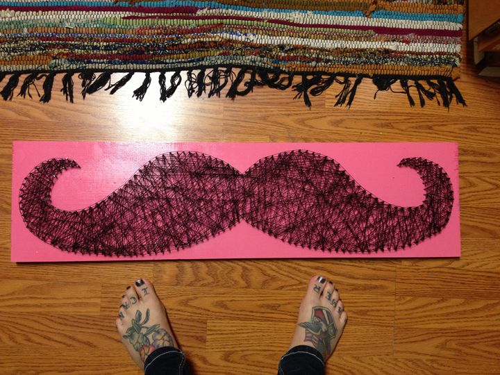 Mustache String Art - Disorder and Disarray