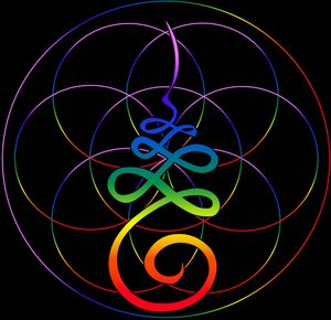 Masculine Unalome Flower of Life