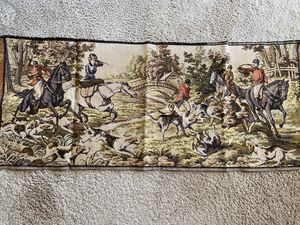SOLD! Wild Boar Hunting tapestry
