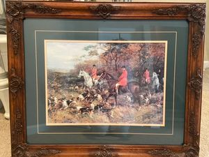 SOLD!  Heywood Hardy Hunt Scene