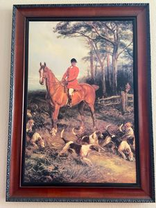 Horse and hounds hunt print-$95