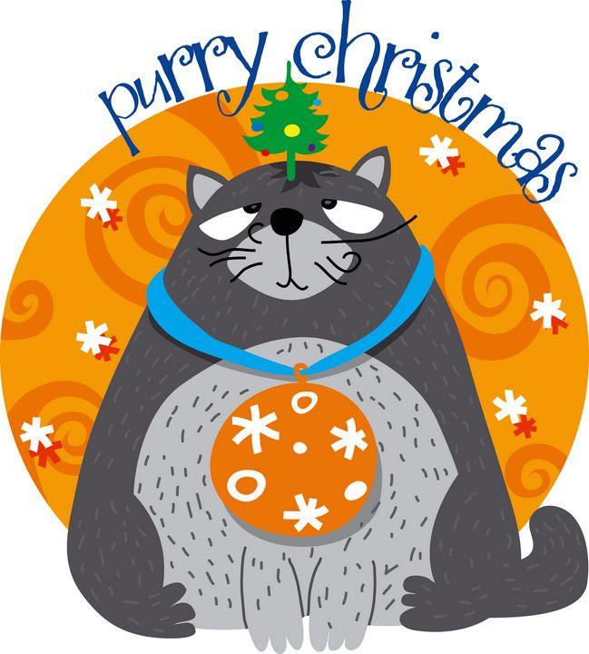 Christmas grumpy cat - aciduzzi