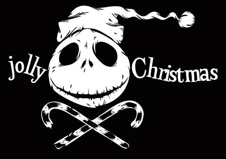 jolly christmas pirate flag - aciduzzi
