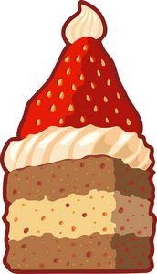 Christmas strawberry santa hat cake
