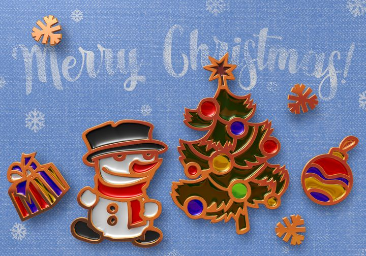 christmas greeting card design - aciduzzi
