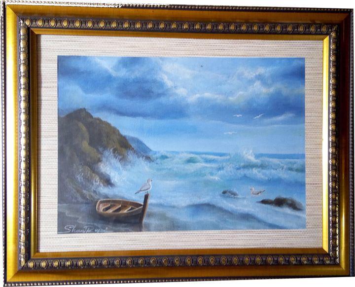 boat in row coast shinesun - Shani Rufai with Paint