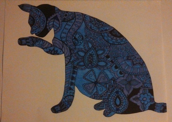 the happy cat - Krystina G