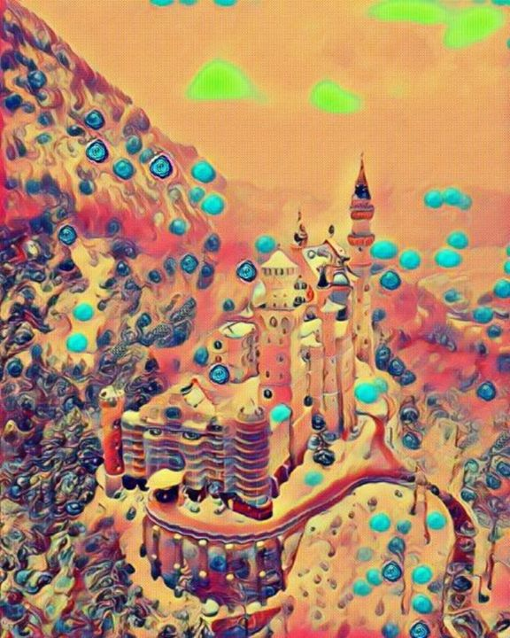 Neuschwanstein Castle abstract - Beautiful Stunning Art by Goodeyez