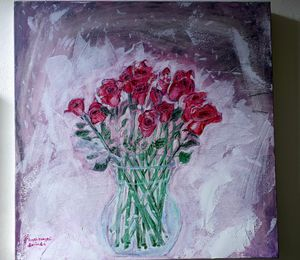 Roses Rouges acrylic on canvas