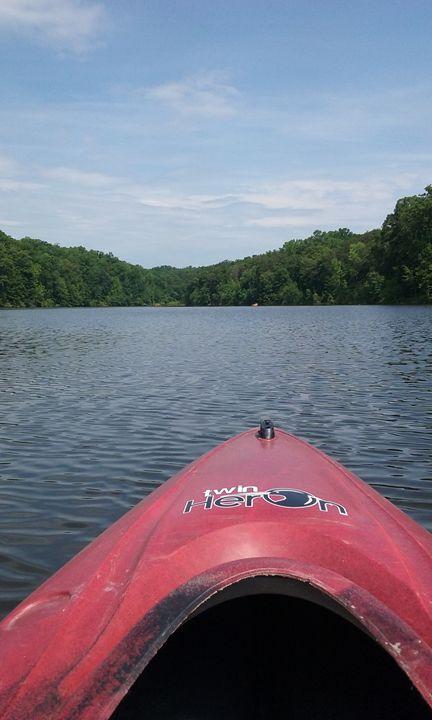 Kayaking on Aquia Creek - Spiritual Art by Laurie