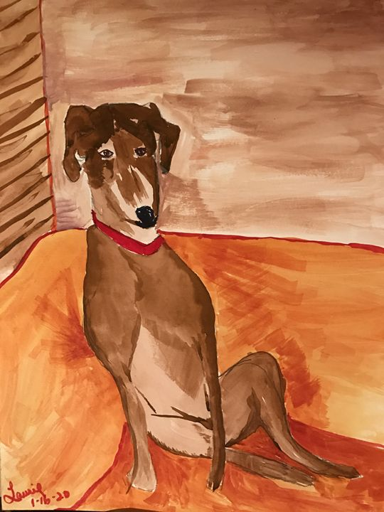 The Essence of my Dog - Spiritual Art by Laurie