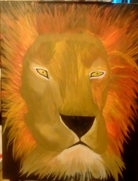 The Lion - Spiritual Art by Laurie