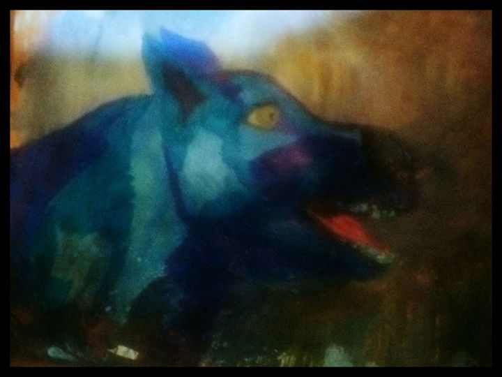 Blue Dog - Spiritual Art by Laurie