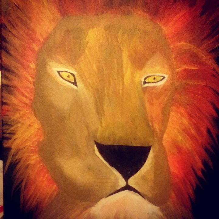 Lion - Spiritual Art by Laurie