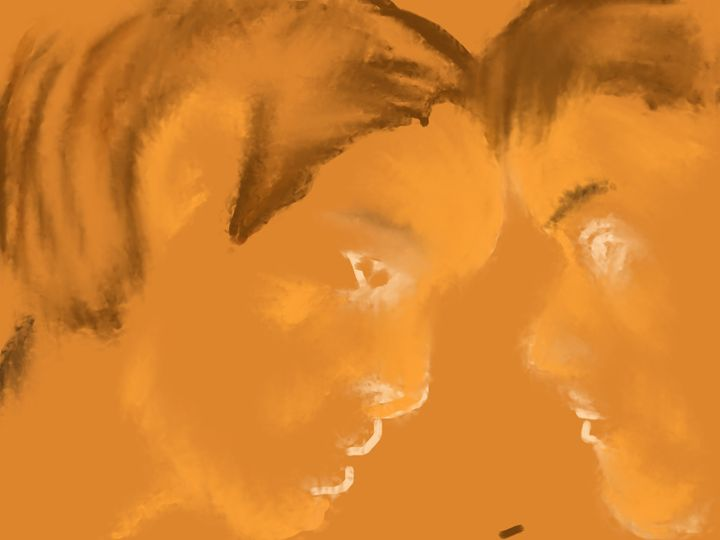 Two Boys - Spiritual Art by Laurie
