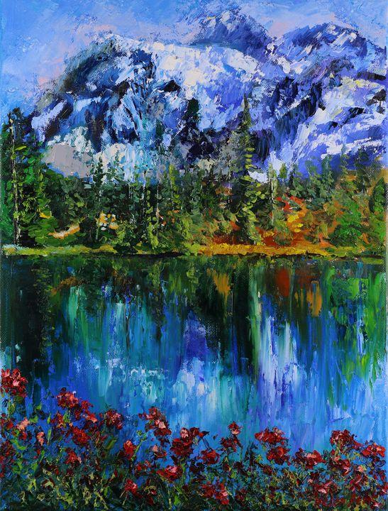 Landscape Painting Switzerland Maunt - Helen Berk artwork