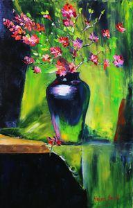 Bouquet Sakura Painting