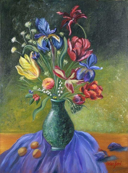 Bouquet of Flowers and Apricots - Helen Berk artwork