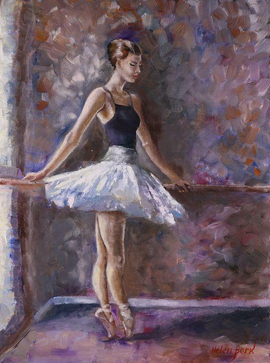Ballerina Painting - Helen Berk artwork