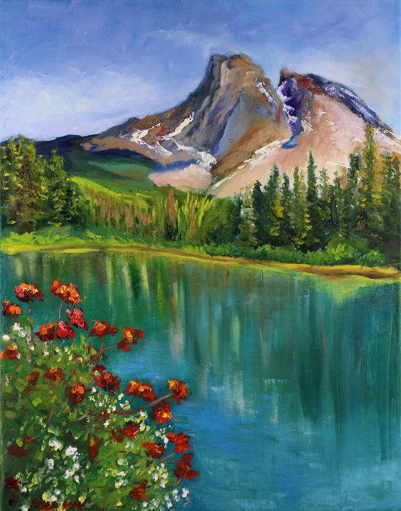 Emerald Lake Painting Canada - Helen Berk artwork