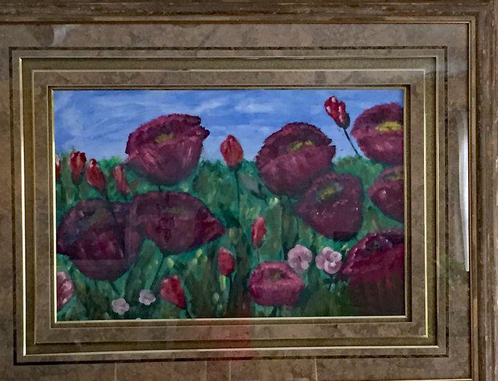 Poppies in Field - Kani Art & Beyond