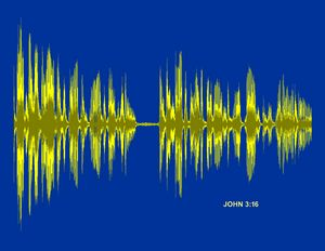 John 3:16 Bible Verse Soundwave