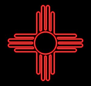 Neon New Mexico Flag